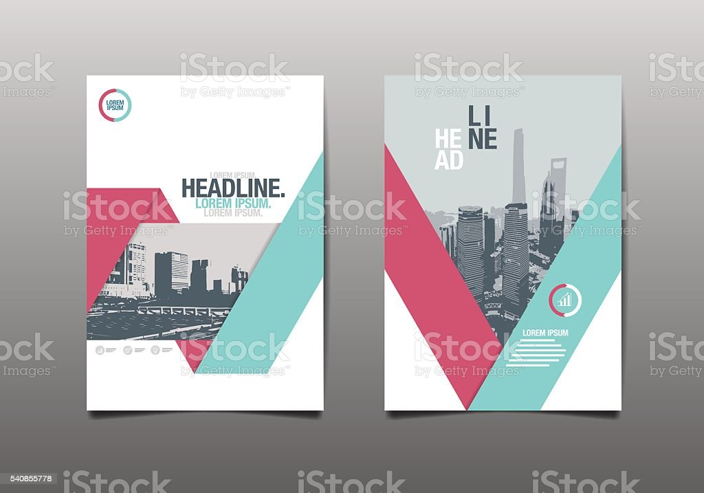 Template design, Layout, vector art illustration
