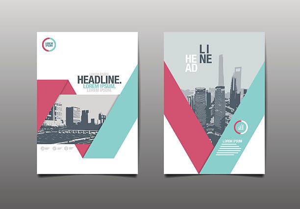 stockillustraties, clipart, cartoons en iconen met template design, layout, - triangel