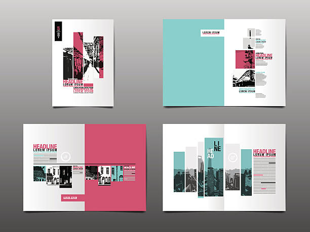 template design, layout,brochure design templates - book patterns stock illustrations