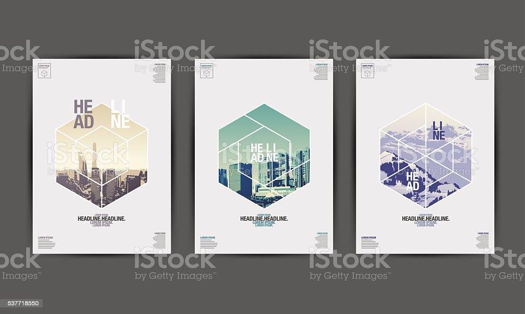 Vorlage Design Layout Broschüre Designvorlagen Geometrische ...