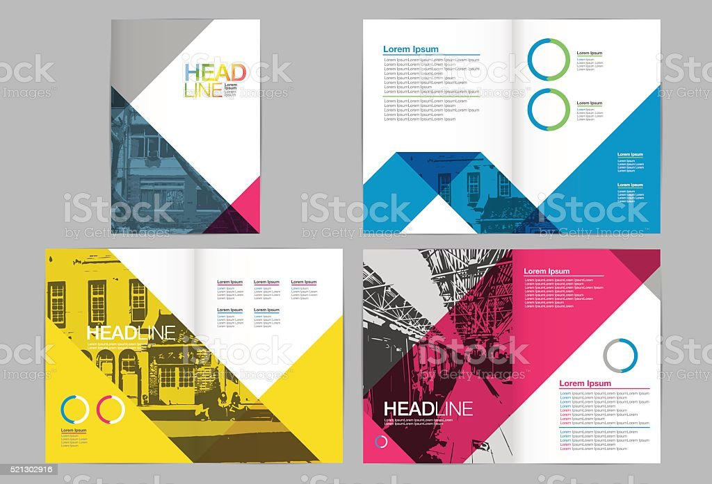 Template design, Layout,Brochure Design vector art illustration
