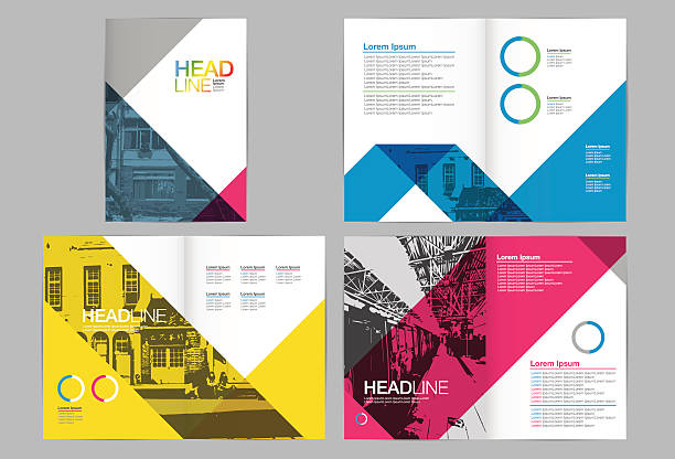 Template-Design, Layout, Broschüre Gestaltung – Vektorgrafik