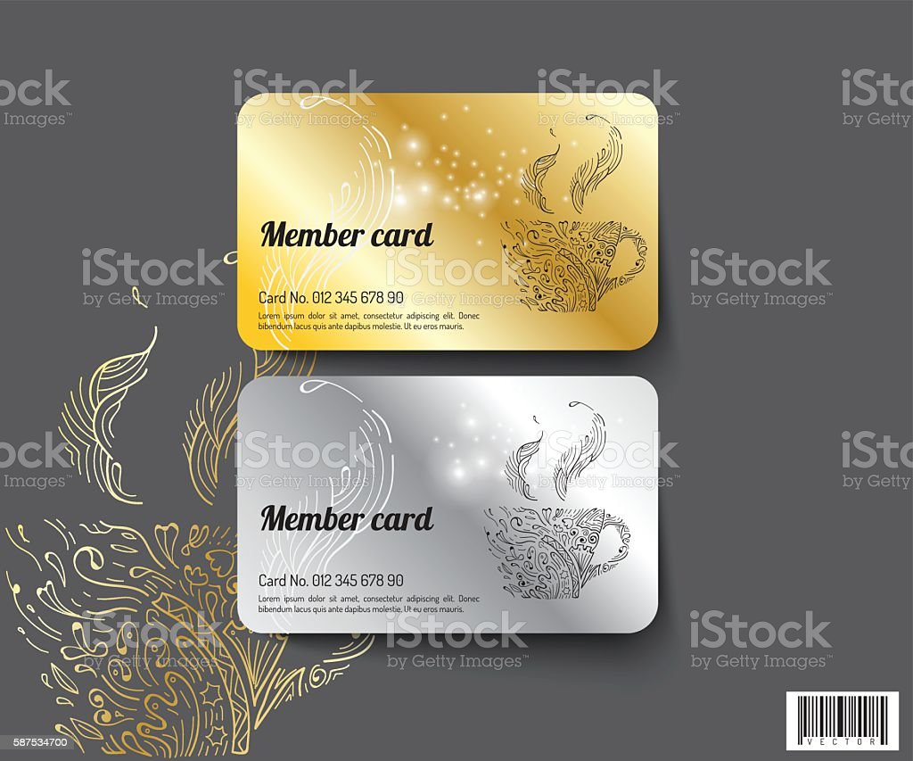 Template Design Member Card. Vector File Royalty Free Template Design  Member Card Vector File  Membership Card Design