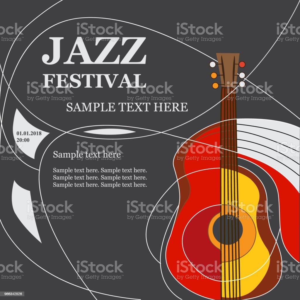 Ilustración de Plantilla Diseño Cartel Con Guitarra Acústica y más ...