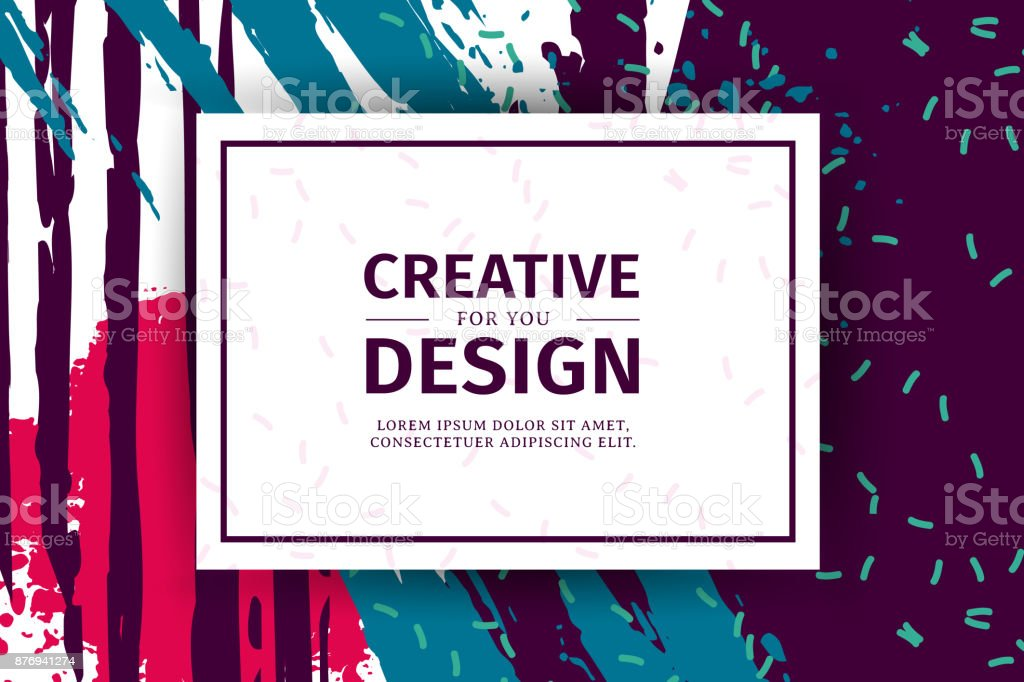 Template Design Vertical Banner With Texture Background Poster For ...