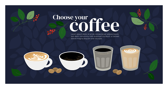 Template design with specialty coffee