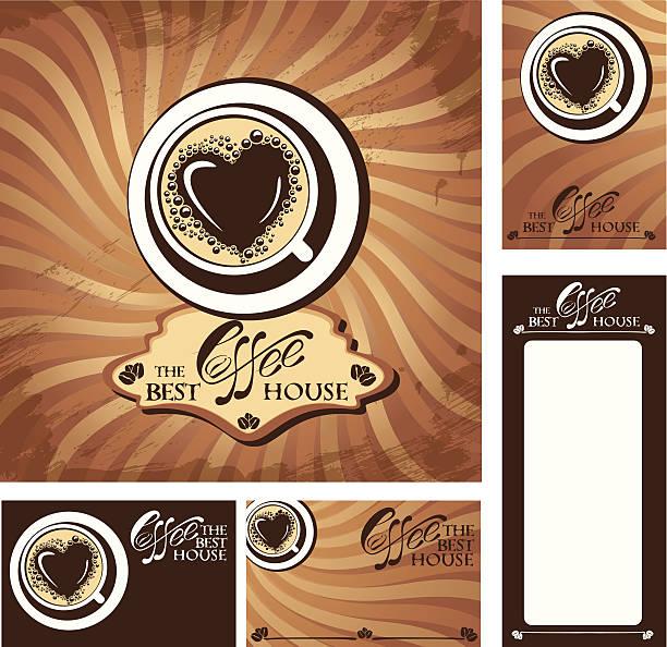 ilustrações de stock, clip art, desenhos animados e ícones de modelo de desenhos de menu e cartões de visita para cofee assembleia. - lian empty