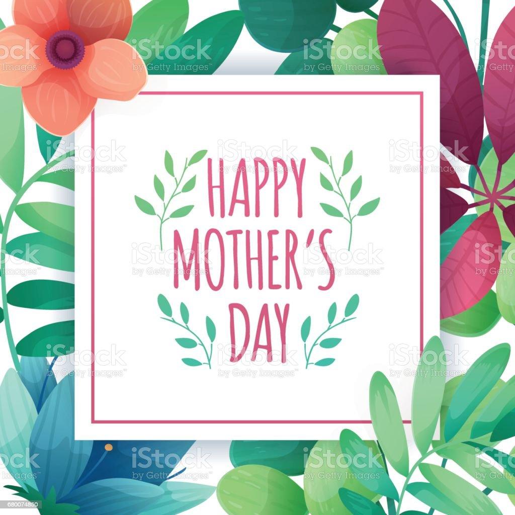 Vorlage Wird Banner Für Muttertag Quadratische Plakat Für Mama ...