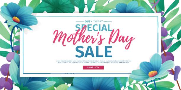 2e72e03eaa Template designt discount banner for happy mother's day. Horizontal poster  for special mother's day sale