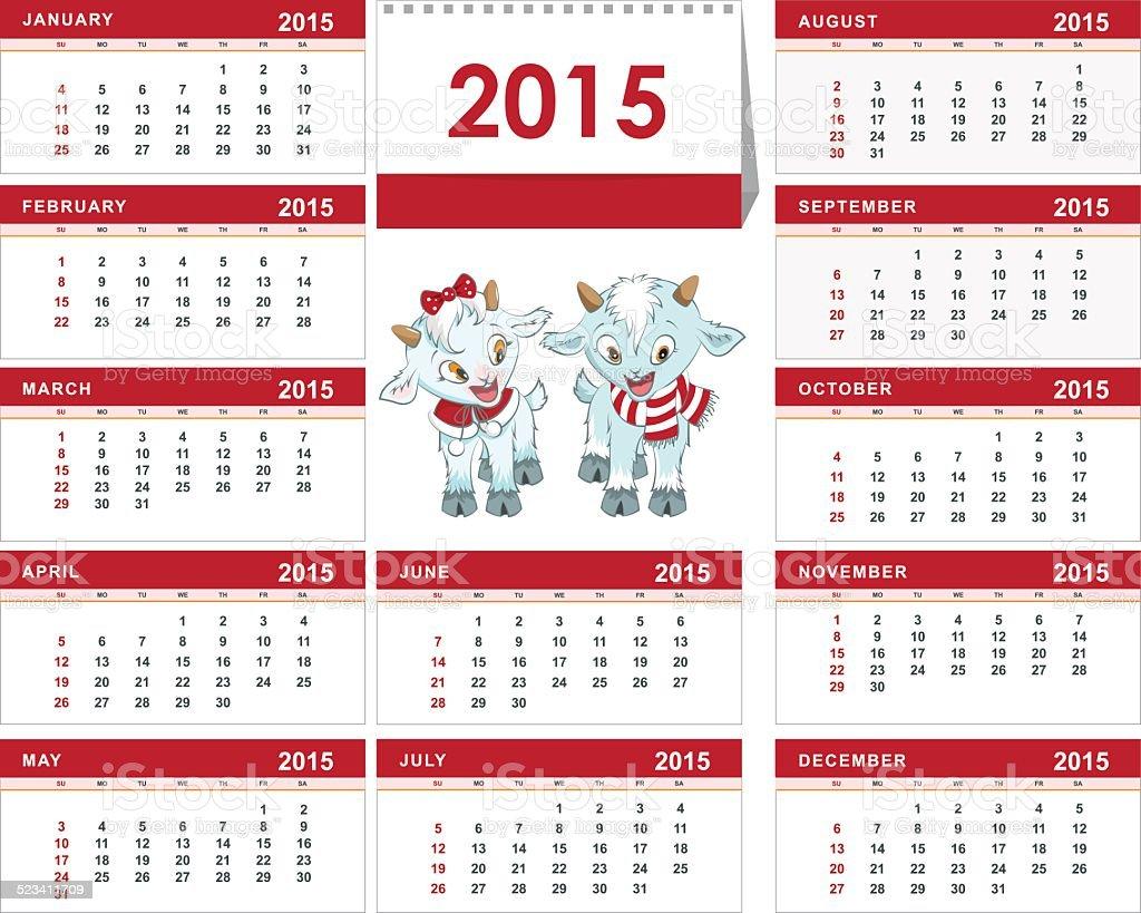 Plantilla Calendario De Escritorio Para El Año 2015 Dos Niños ...