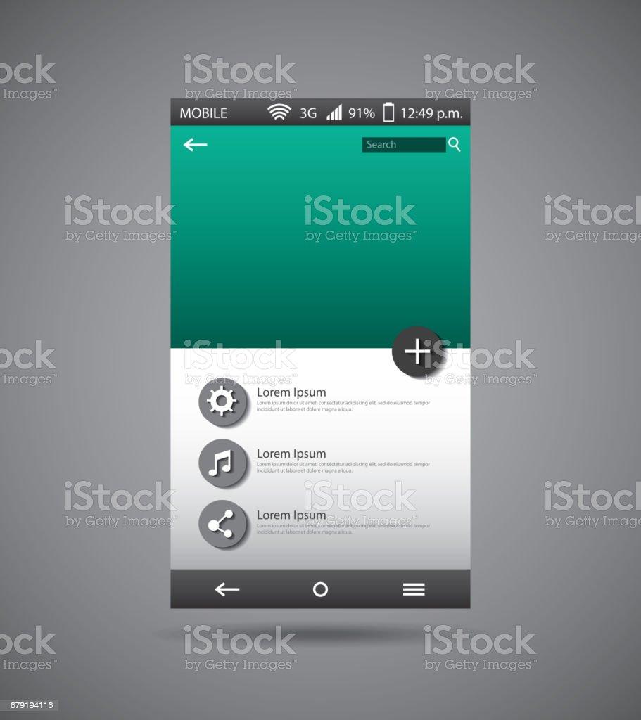 template display smartphone icon template display smartphone icon - arte vetorial de stock e mais imagens de apresentação digital royalty-free