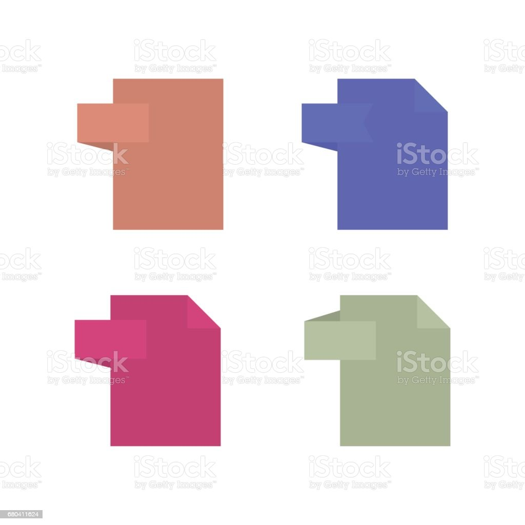 Template file format icons, vector illustration. vector art illustration