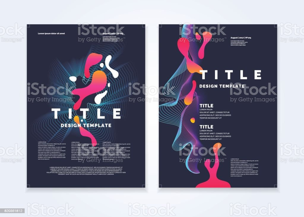 Template for a magazine about music, modern poster vector art illustration