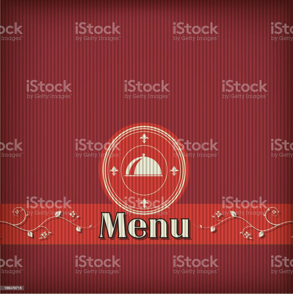 template for a restaurant menu royalty-free stock vector art