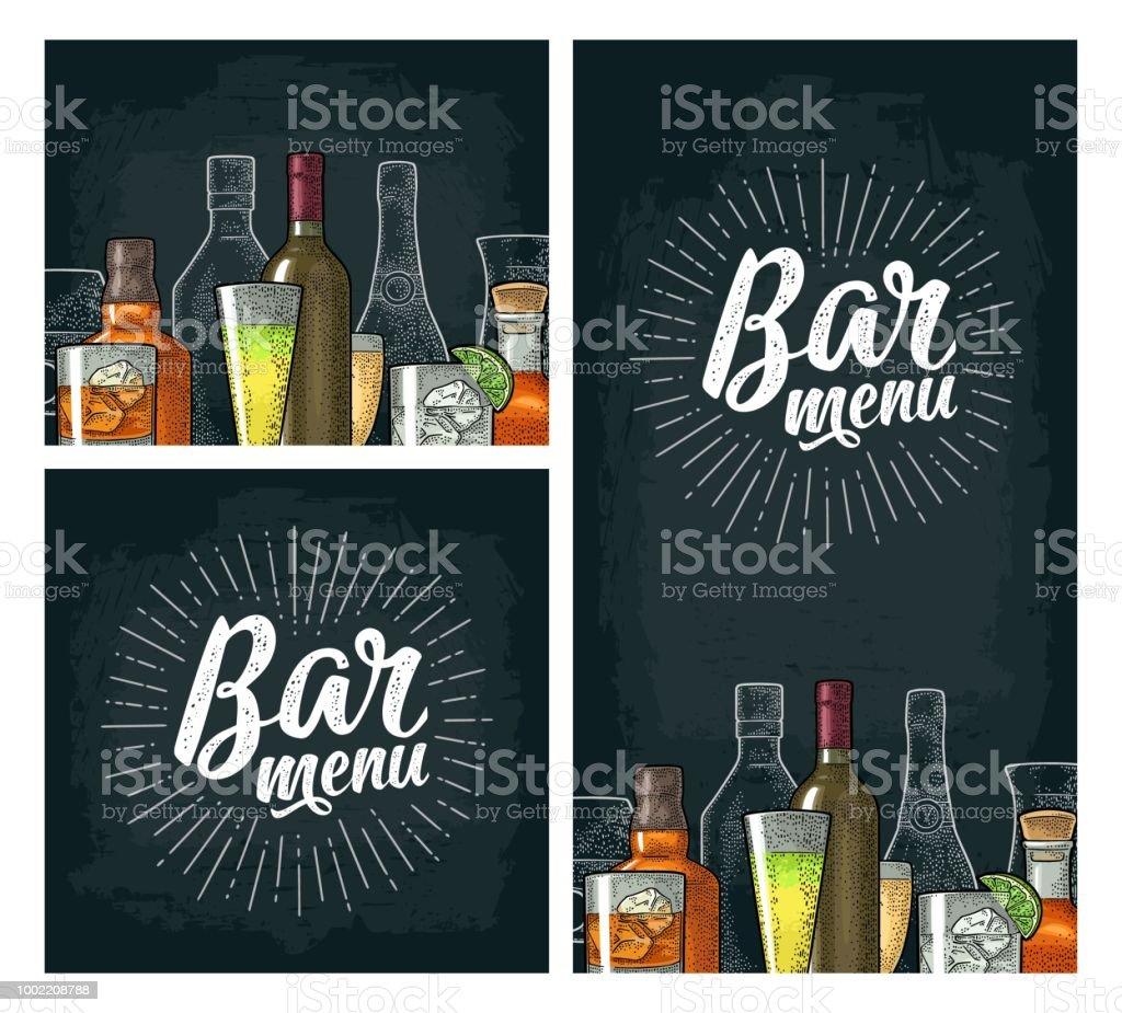 Vorlage Für Bar Menü Alkohol Trinken Stock Vektor Art und mehr ...