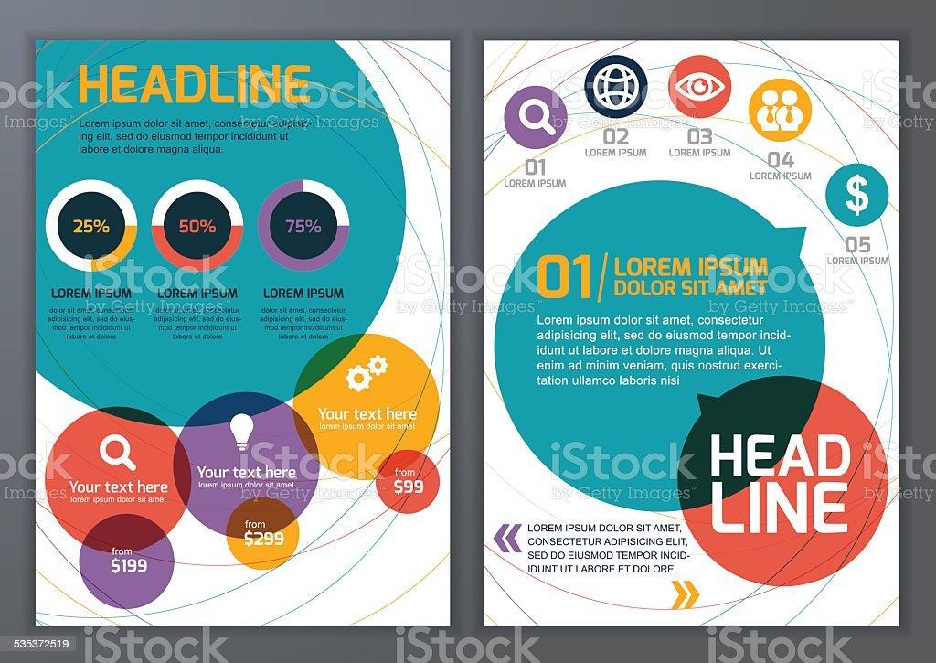 template for brochure flyer poster online service vector set stock