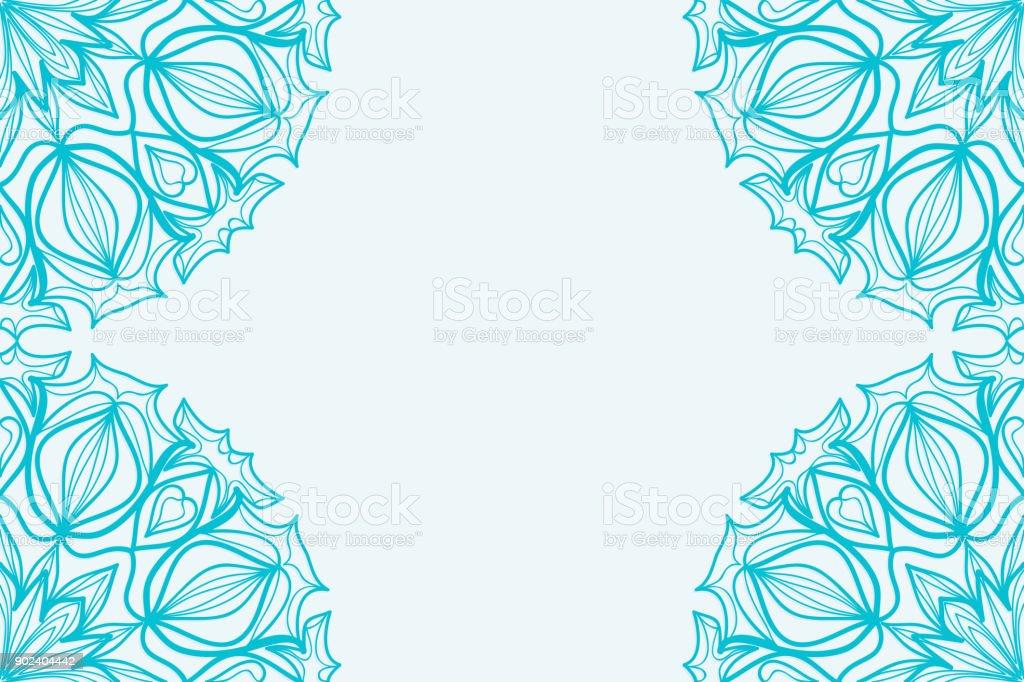 Plantilla para tarjeta de visita elementos decorativos de - Plantilla mandala pared ...