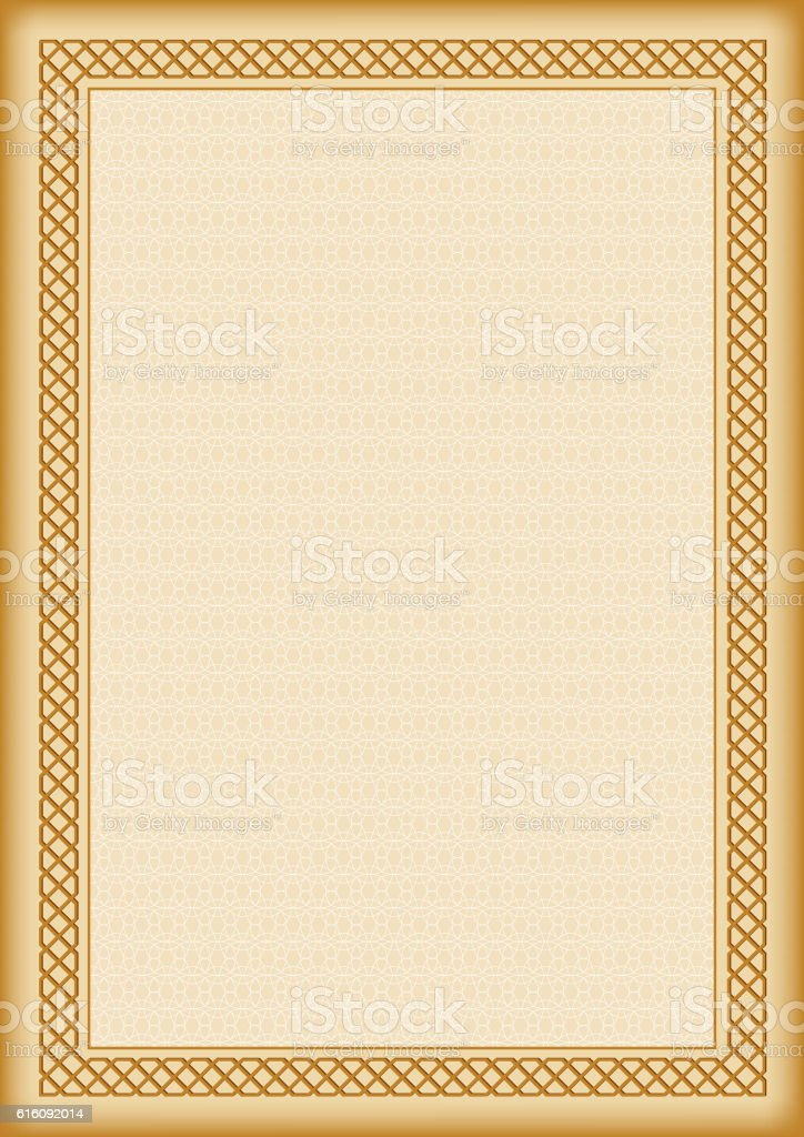 Template For Certificate Or Diploma A4 Page Size Stock Vector Art