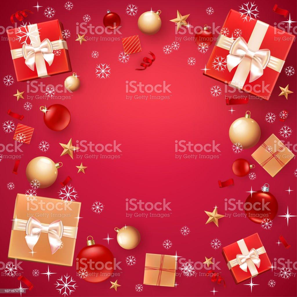 Ilustración De Plantilla Para Tarjetas De Navidad Flyer