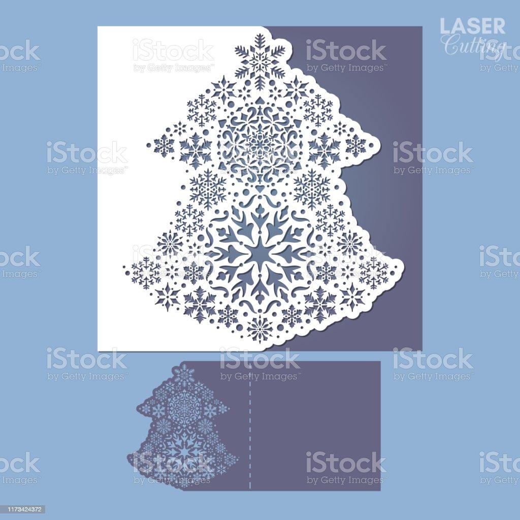 Ilustración De Plantilla Para Tarjetas De Navidad