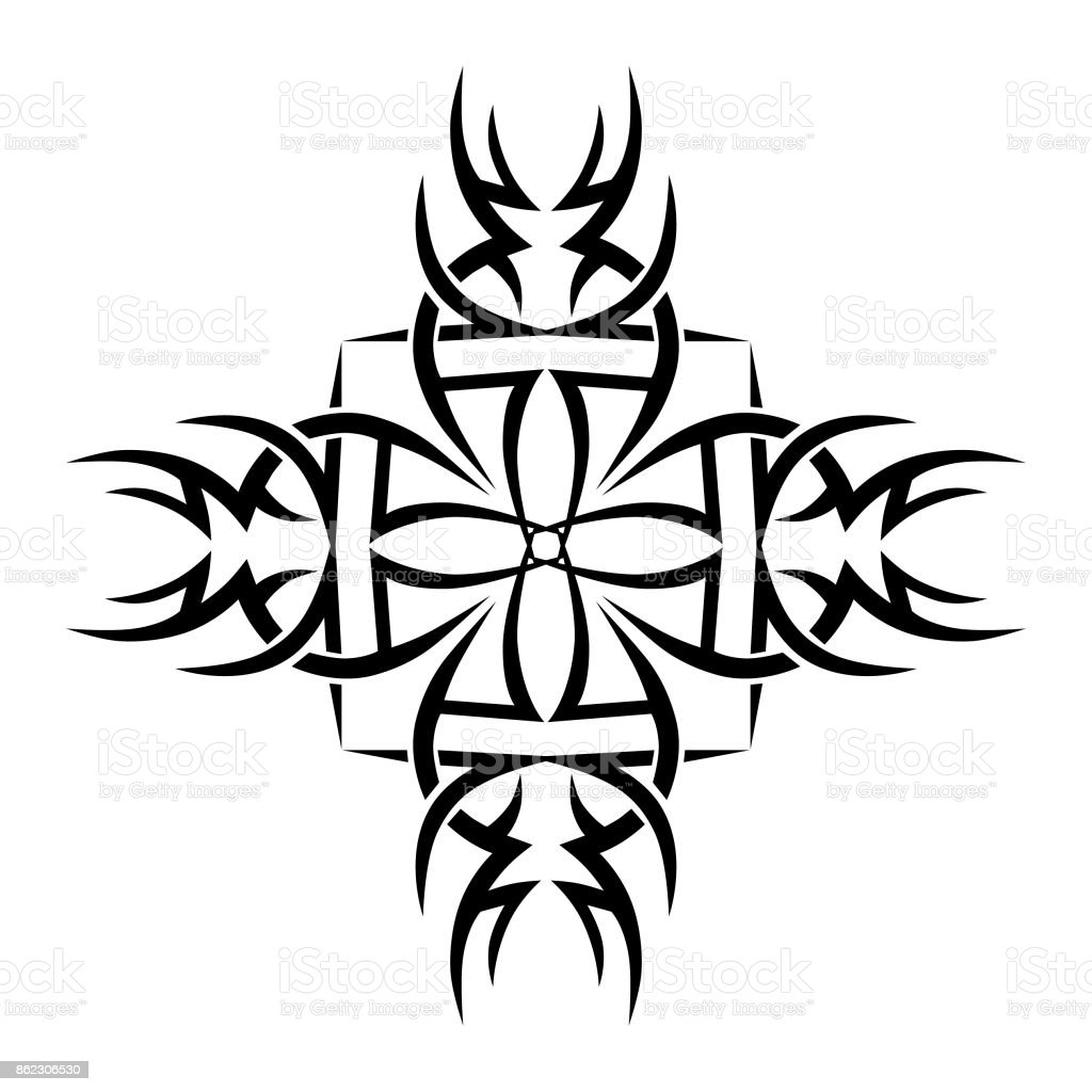 Tattoo Tribal Designs Template For Design Of Machine Embroidery ...