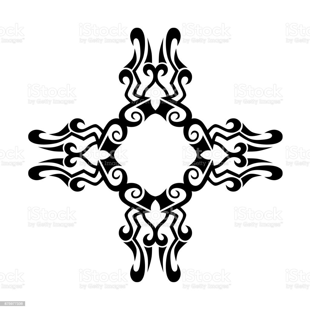 2b71581be TATTOO TRIBAL DESIGNS. Template for design of machine embroidery.  royalty-free tattoo tribal