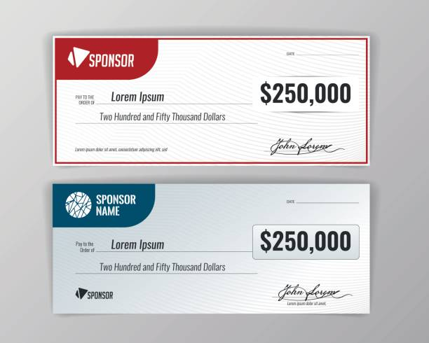 Template for event-winning check. Template for event-winning check. Geometric background. Vector check financial item stock illustrations