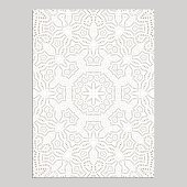 Template for greeting and business cards, brochures, covers with floral motifs. Oriental lace pattern. Lacy mandala.