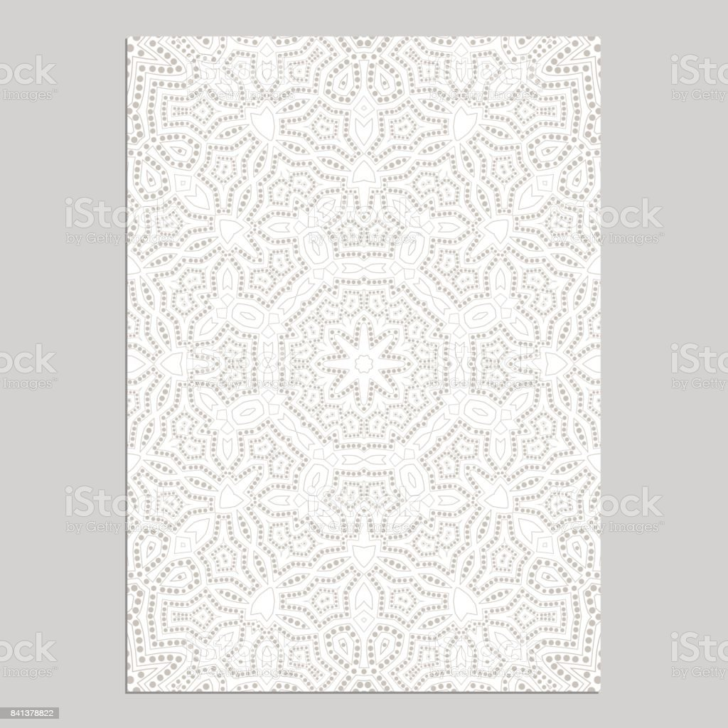 Template for greeting and business cards, brochures, covers with floral motifs. Oriental lace pattern. Lacy mandala. vector art illustration