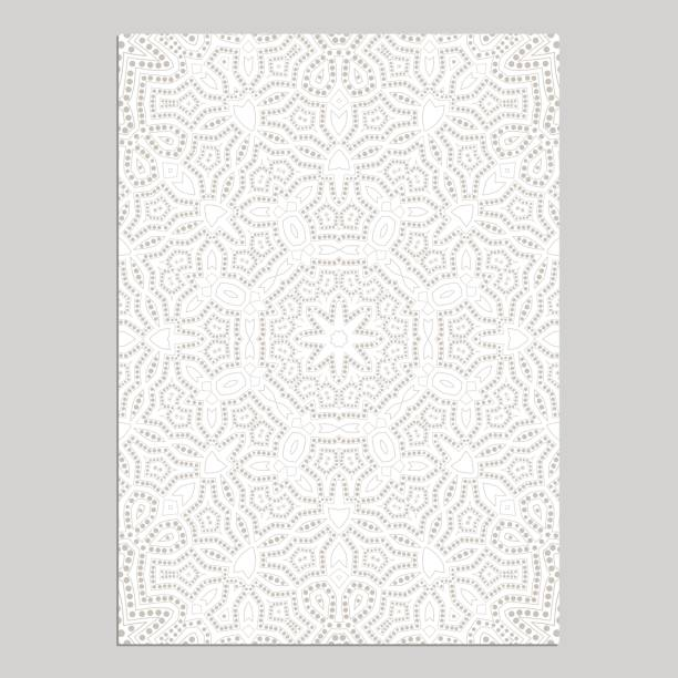 template for greeting and business cards, brochures, covers with floral motifs. oriental lace pattern. lacy mandala. - arab stock illustrations