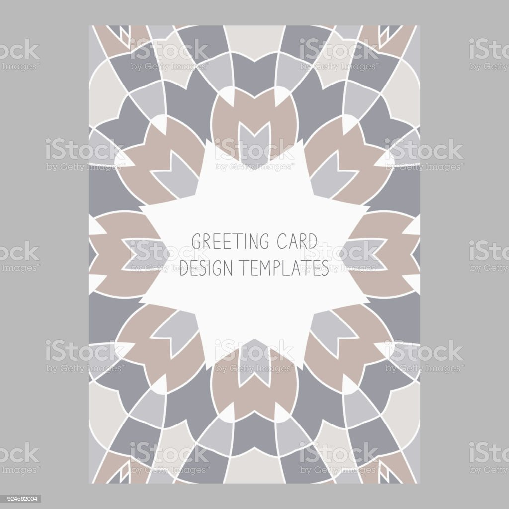 Template for greeting and business cards brochures covers with save template for greeting and business cards brochures covers with floral motifs oriental pattern flashek Choice Image