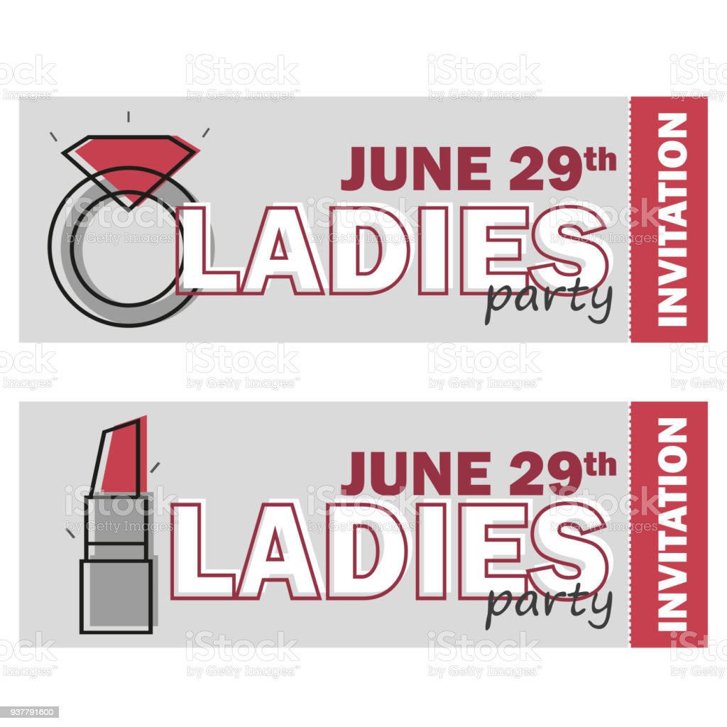 Template For Ladies Night Party Flyer Bachelorette Party Invitation ...
