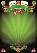 A template for Las Vegas gambling poster
