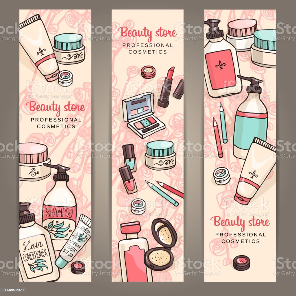 Template For Makeup Products Web Banner Design Stock Illustration Download Image Now Istock