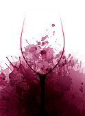 Template for promotions or presentations of wine events.  Background texture of wine stains. Vector