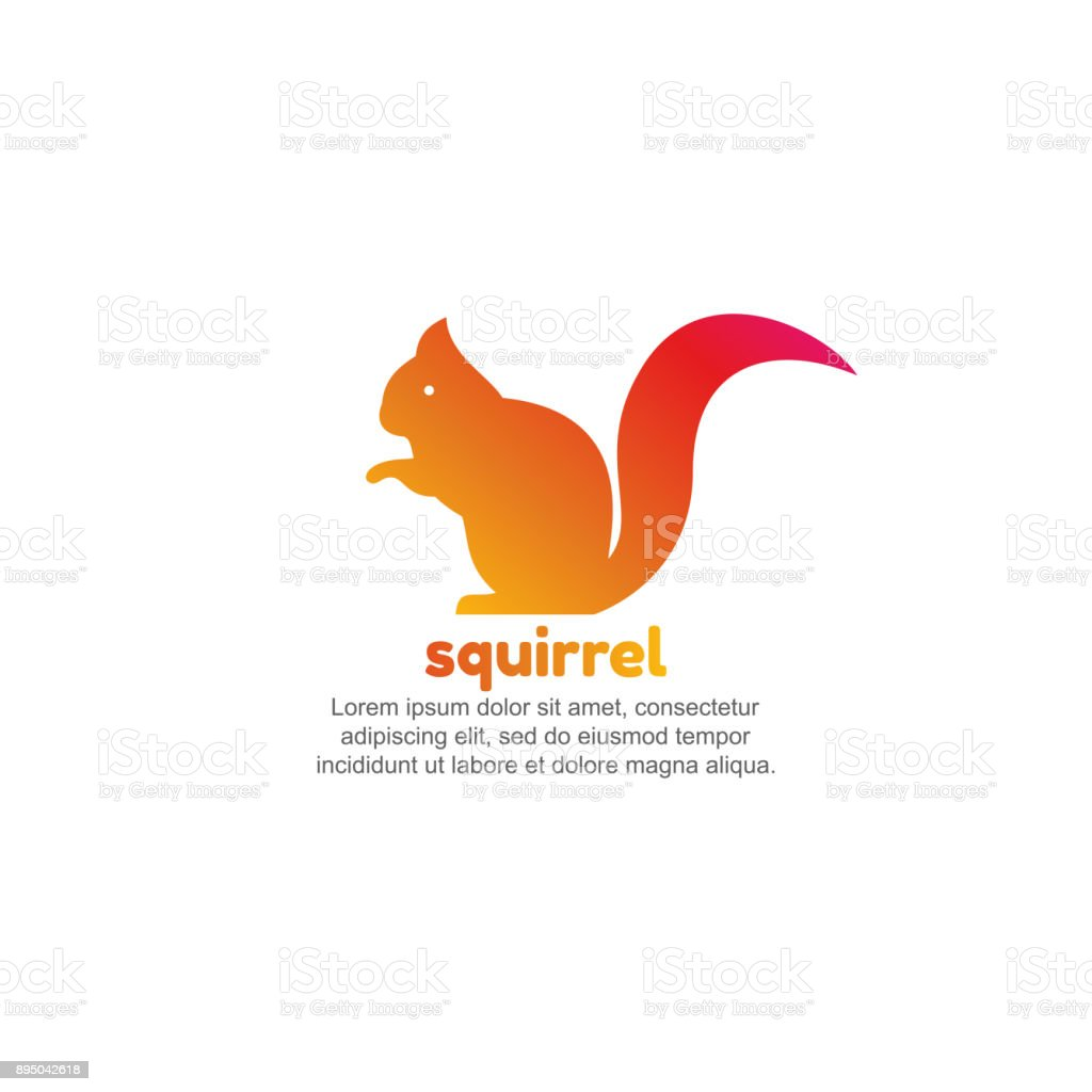 Template For Squirrel Stock Vector Art & More Images of Abstract ...