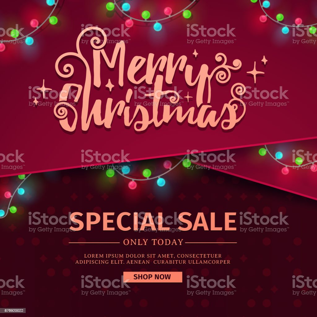 template for the design of the new year banner for promotion christmas banner for sale