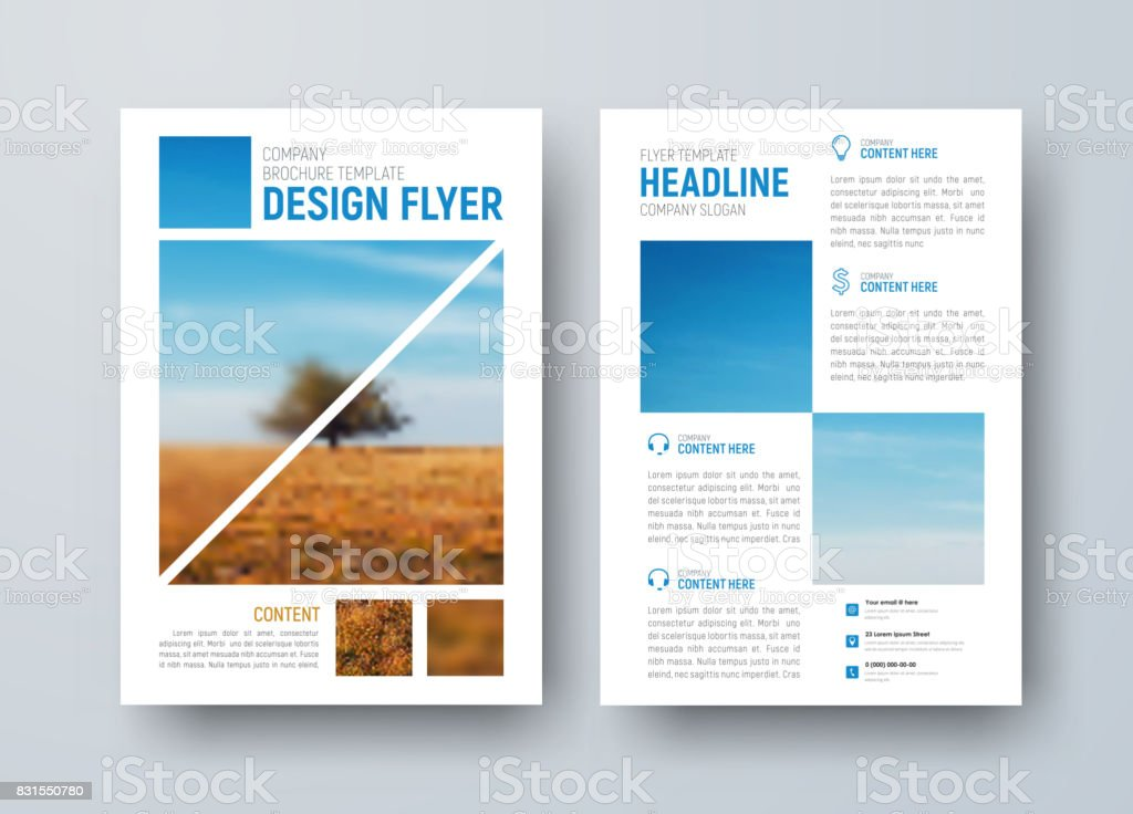 Template For The Front And Back Pages Of The Brochure Stock Vector