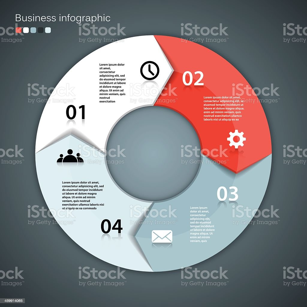 Template for your business project in a modern vector design Layout for your options. Can be used for info graphic. Abstract stock vector