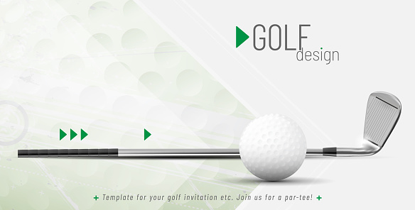 Template for your golf design with sample text