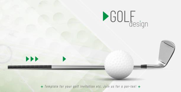 ilustrações de stock, clip art, desenhos animados e ícones de template for your golf design with sample text - golf