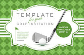 Template for your golf invitation with sample text