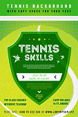 Template for your tennis design with sample text in separate layer- vector illustration