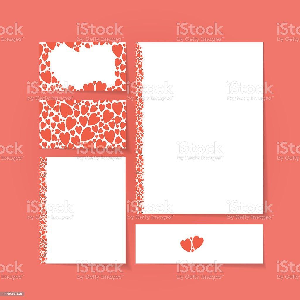 template forms brand vector art illustration