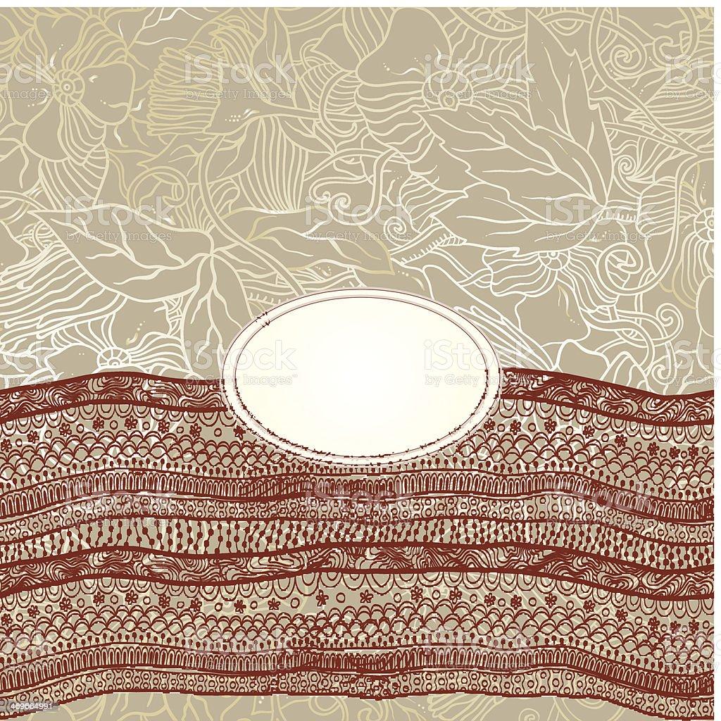 Ilustración de Diseño De Marco De Plantillas Para Tarjetas Con Cinta ...