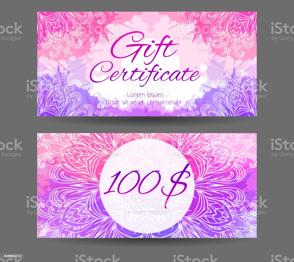 Template gift certificate for yoga studio spa center massage template gift certificate for yoga studio spa center massage parlor beauty salon xflitez Images