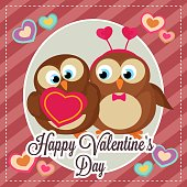 istock template happy valentine's day card with bird couple 1292342248