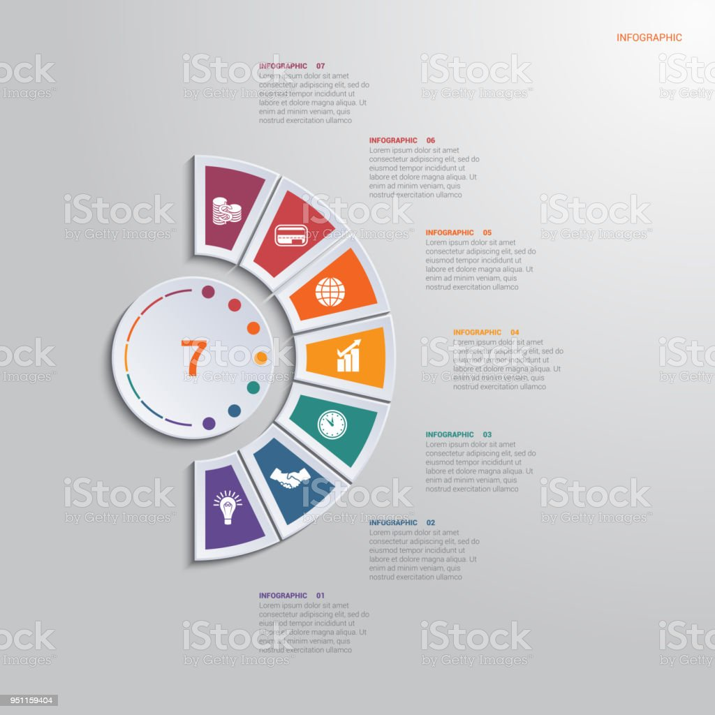 Template infographic 7 positions for text area diagram with template infographic 7 positions for text area diagram with multicolored elements around circle template ccuart Images