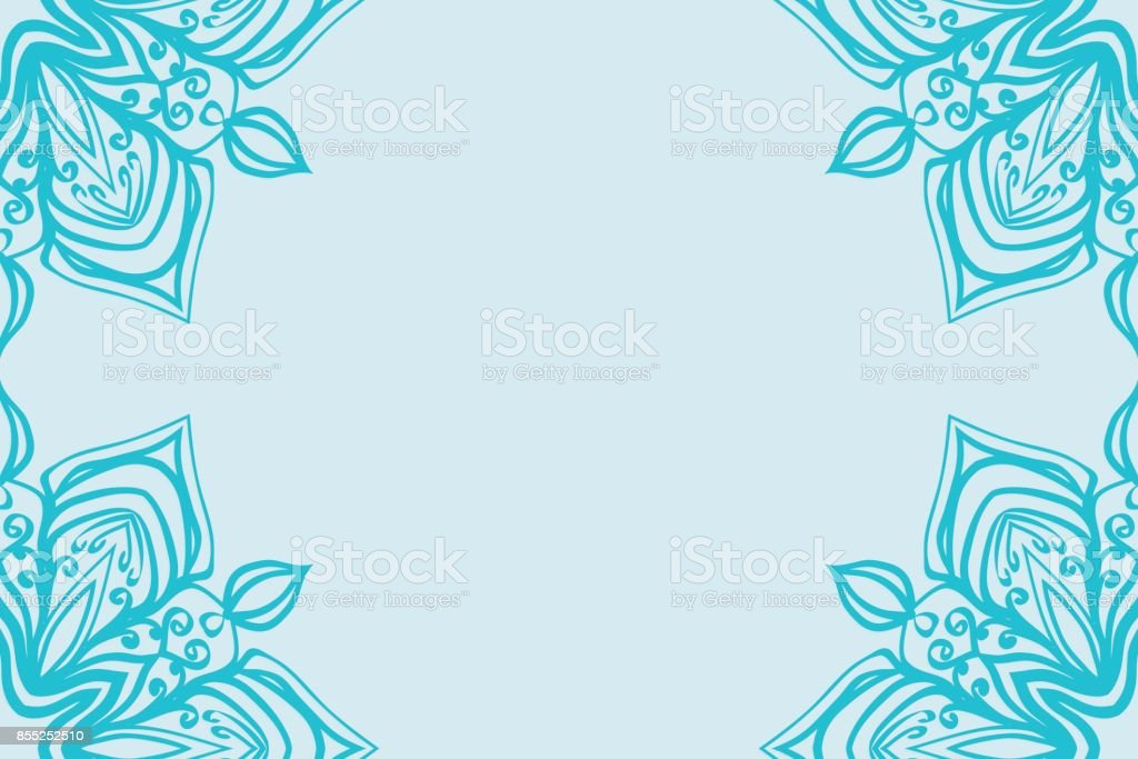 Template Invitation Card With Mandala Border Element Floral