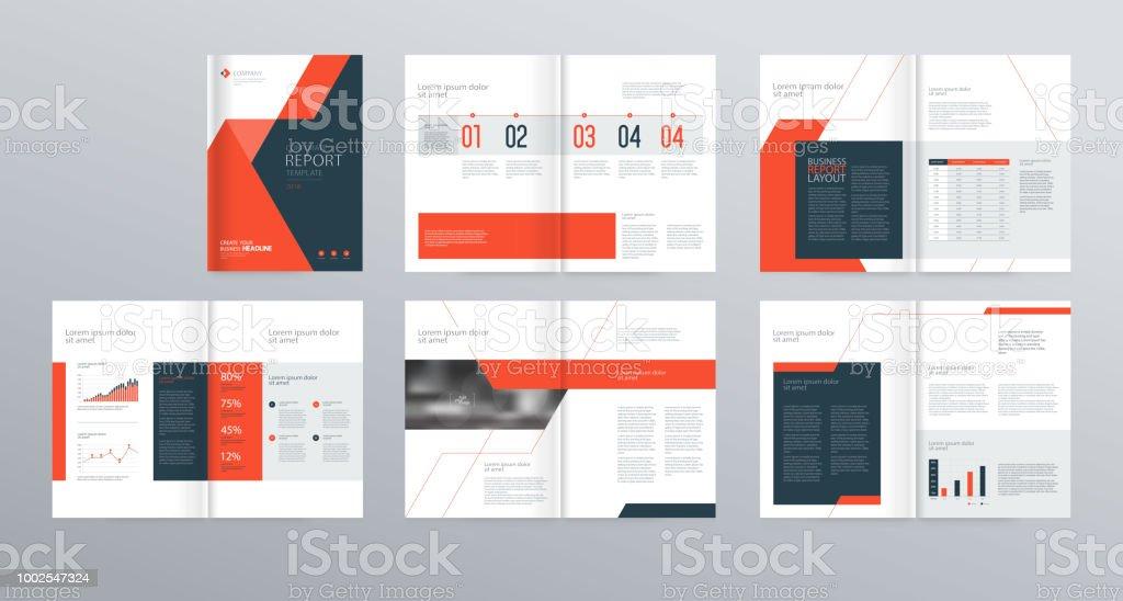 Template Layoutdesign Mit Deckblatt Für Firmenprofil